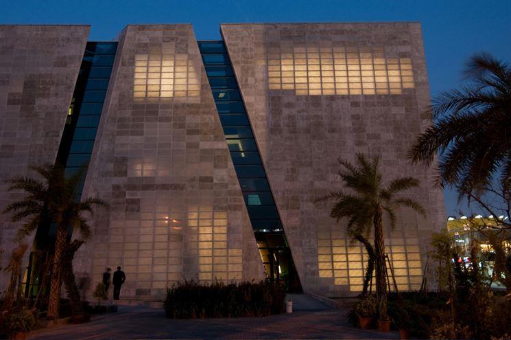 cemento trasparente facciata