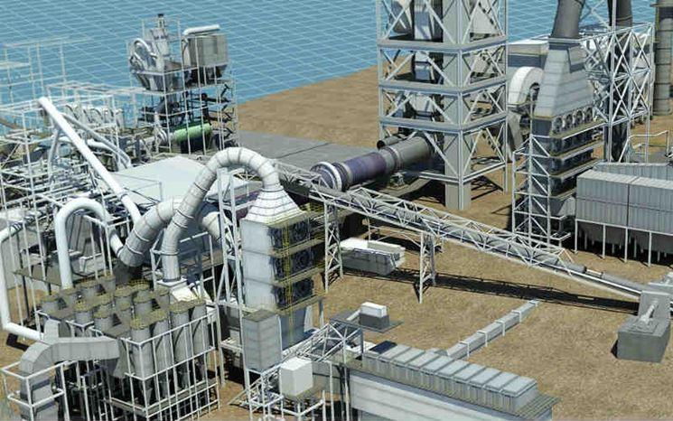 Stabilimento per la produzione del cemento