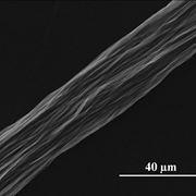 Ingrandimento di fibra di carbonio