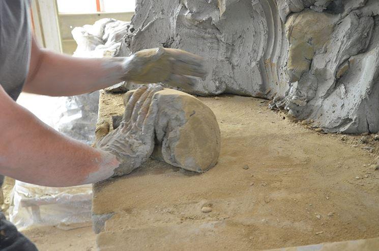 Impasto di argilla per mattoni realizzati a mano