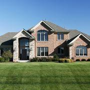 Esempio di casa costruita con mattoni.