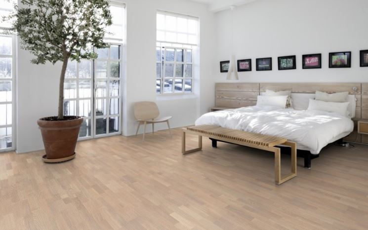 Parquet in bamboo zona notte