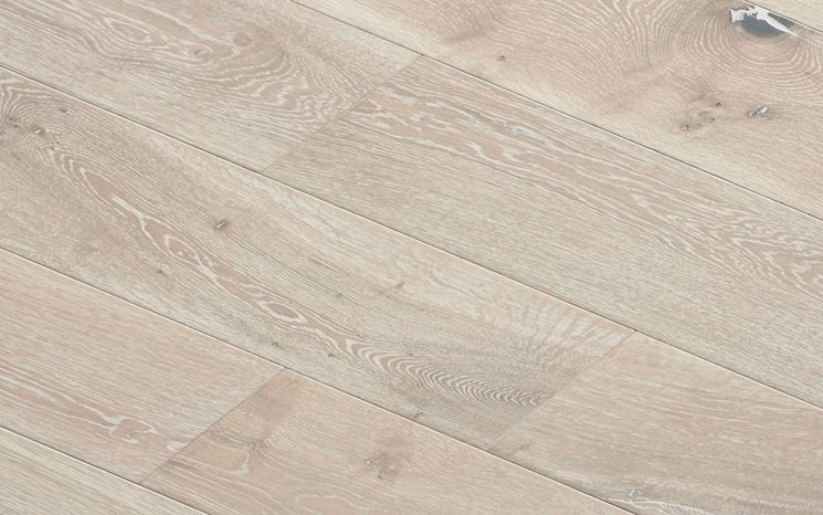Parquet a doghe in rovere sbiancato