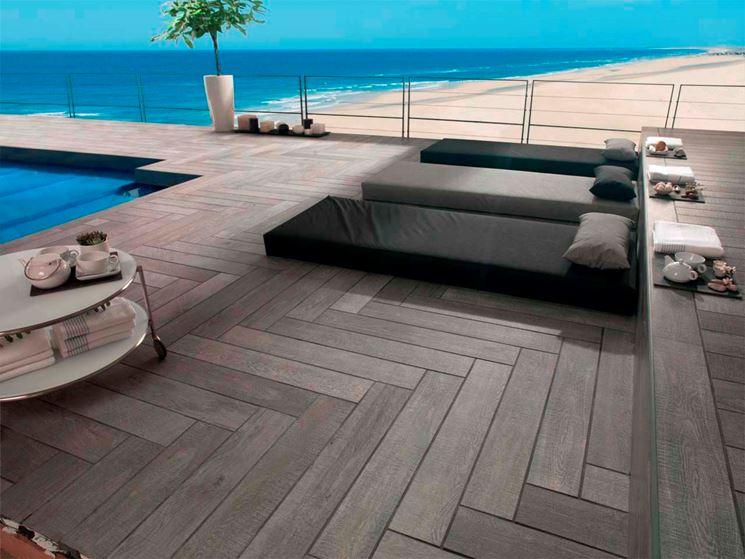Pavimentazione da esterno in legno