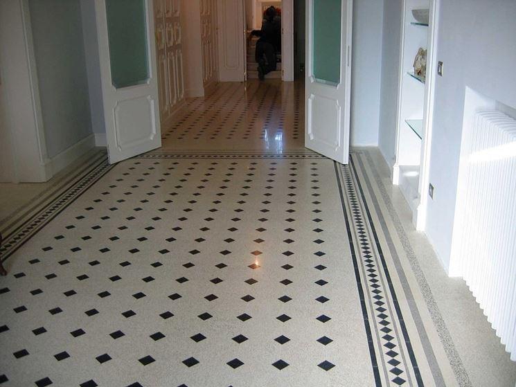 Un esempio di pavimento artistico