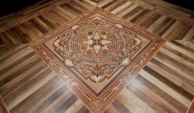 Pavimento artistico in legno