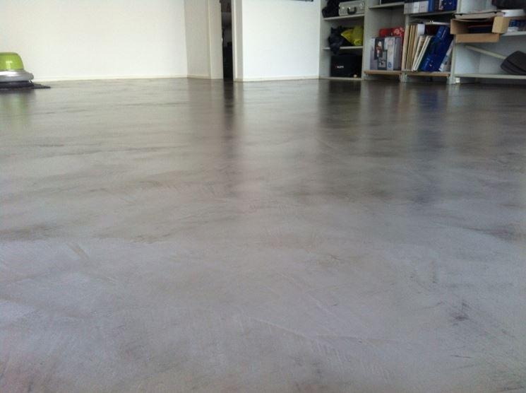Esempio di pavimenti in cemento