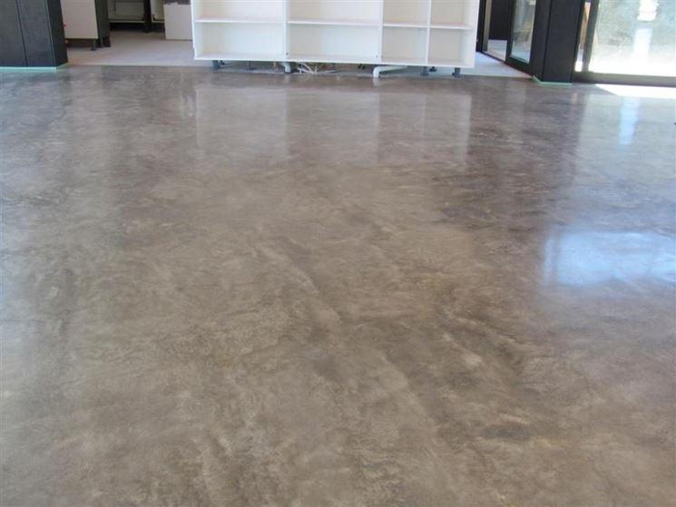 Pavimento in cemento per interni