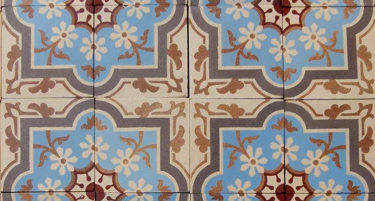 pavimento in ceramica vintage