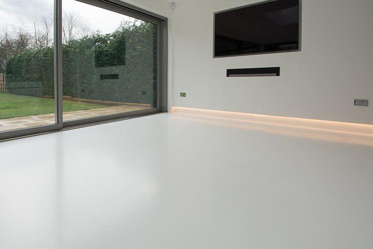 Pavimenti in resina in soggiorno