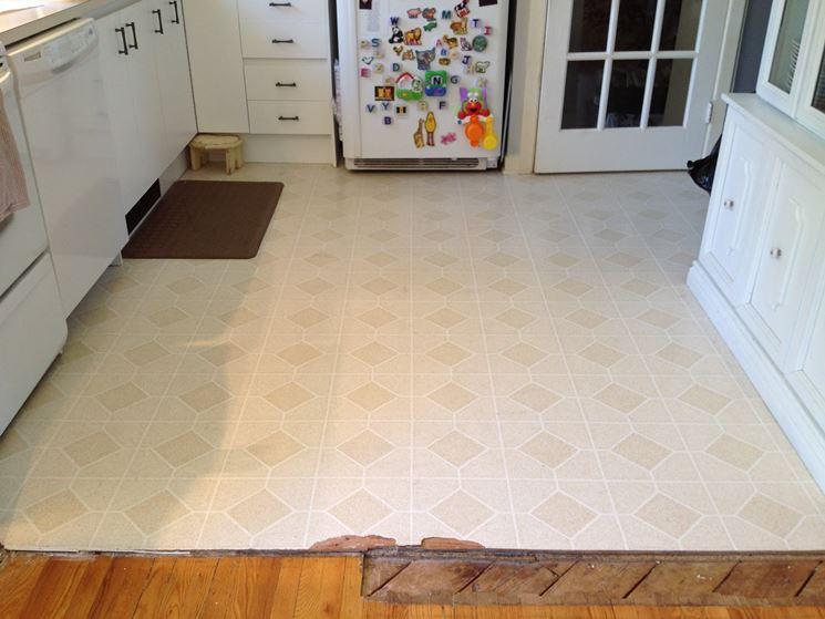 Pavimento linoleum in cucina