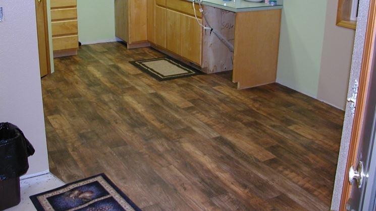 Esempio di pavimenti linoleum