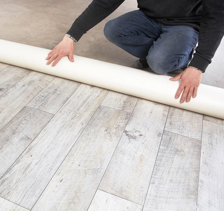 Pavimento linoleum effetto legno