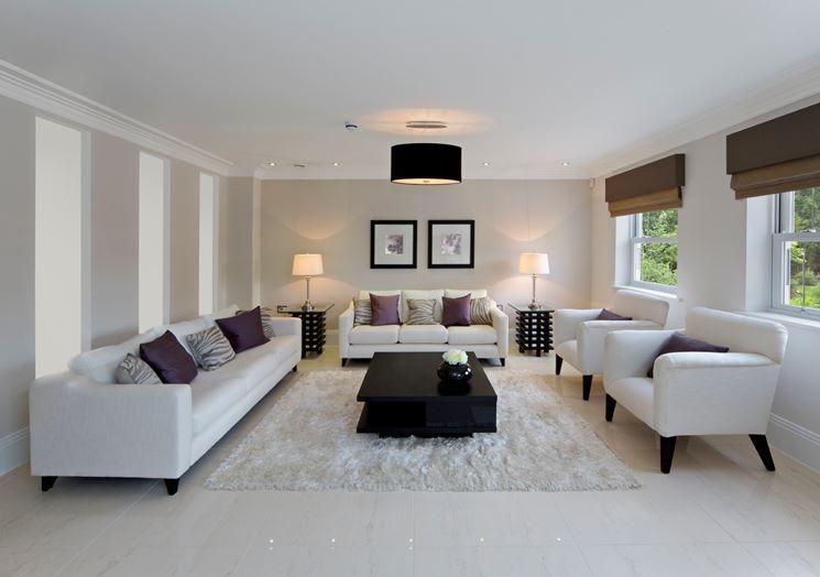 Salotto pavimento marmo