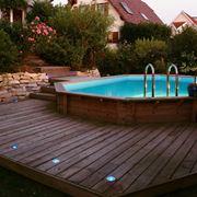 Pavimento piscina legno