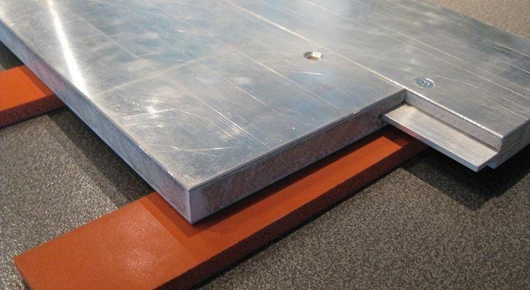 Esempio di pannelli a pavimento