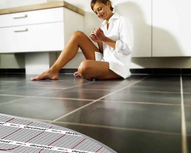 Riscaldamento con pavimento radiante