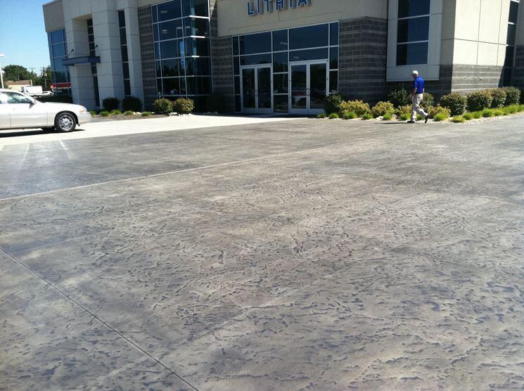 Pavimento in piastrelle di cemento