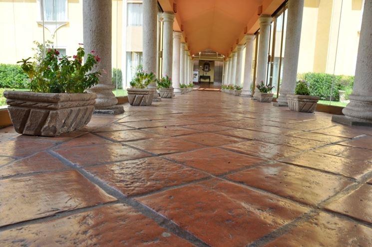 Pavimento esterno in terracotta