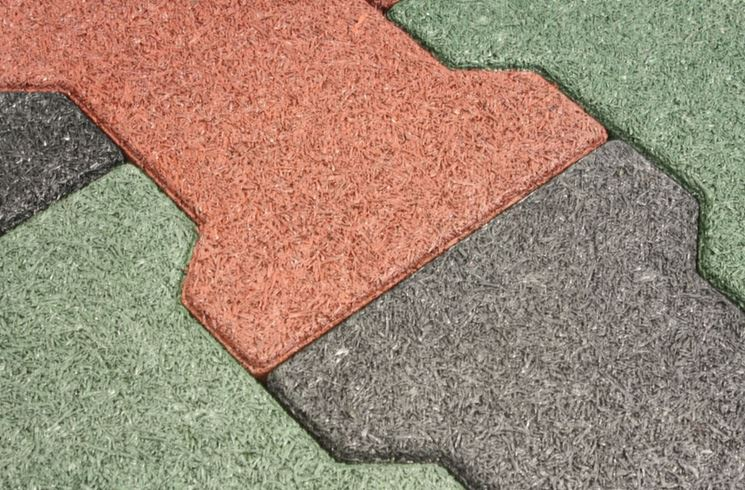 Pavimenti in gomma per esterni pavimento da esterno