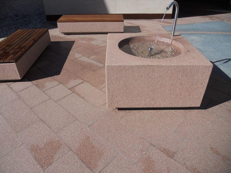 Esempio di pavimenti in porfido