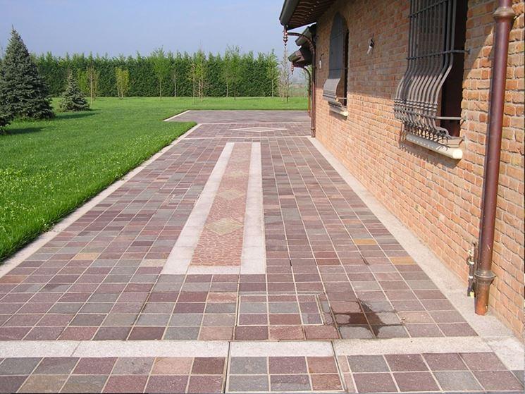 Pavimenti per esterni pavimento da esterno - Pavimentazione cortile esterno ...