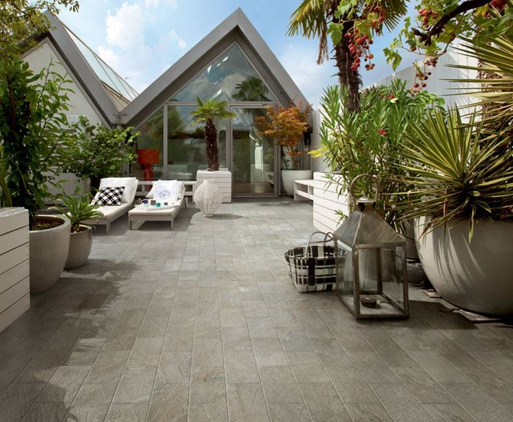 Pavimenti per terrazzo esterno - Pavimento da esterno - Rivestimenti per terrazzi