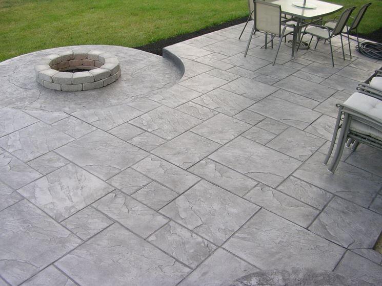 Calcestruzzo Stampato Fai Da Te : Pavimenti stampati per esterni pavimento da esterno