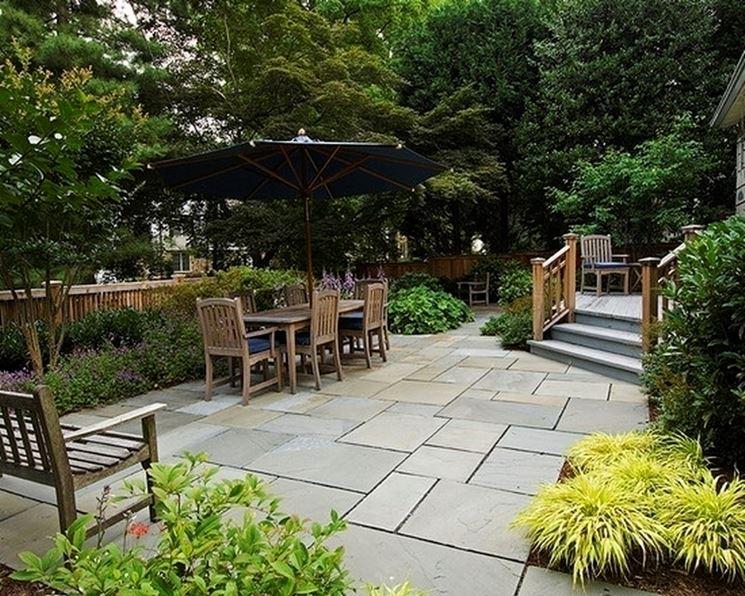 Piastrelle in cemento per esterno pavimento da esterno - Piastrelle giardino cemento ...