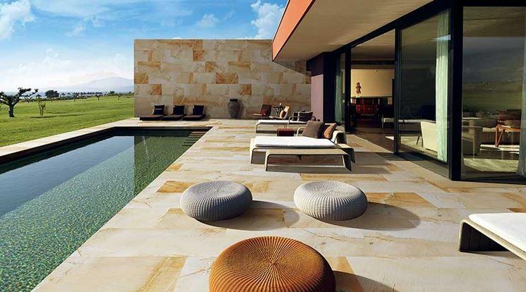 Piastrelle per giardino in stile moderno
