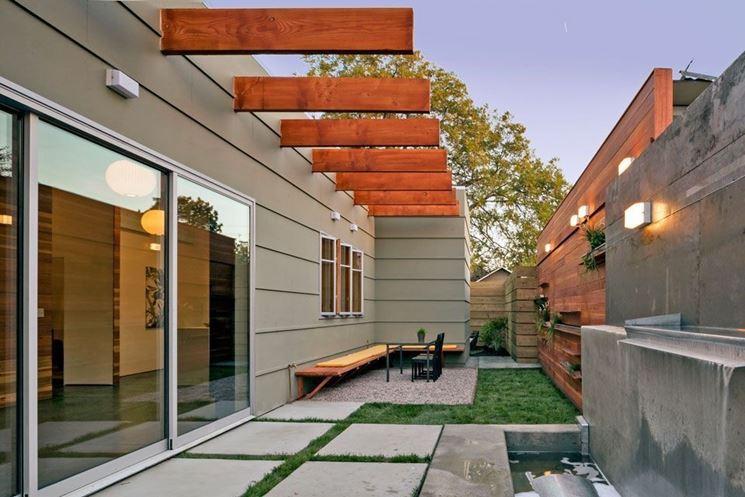 Piastrelle per giardino moderne