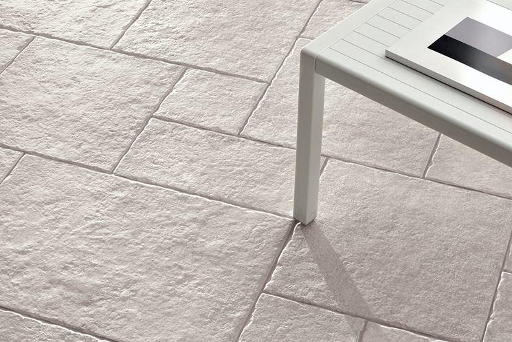 Piastrelle per pavimenti pavimento da esterno pavimento - Gres porcellanato effetto legno da esterno ...