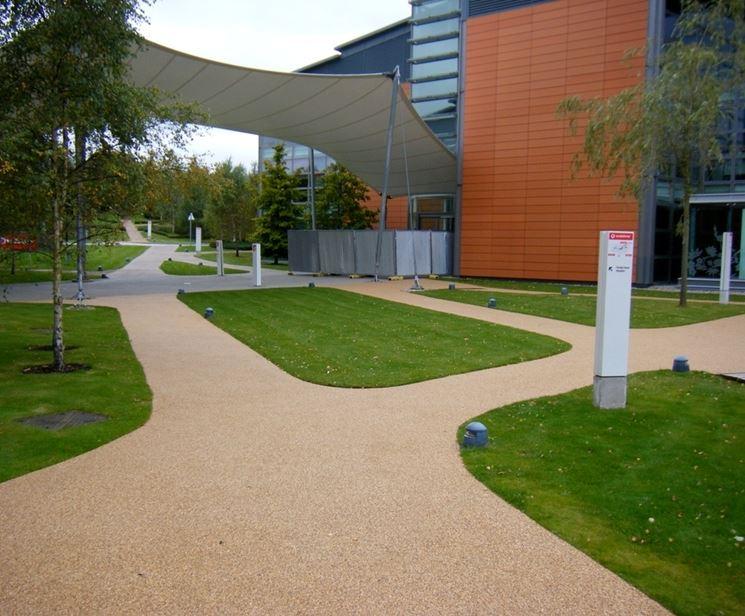 pavimento in resina per esterno