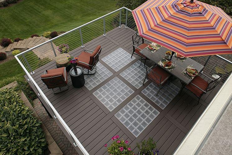 Terrazzo pavimento vetromattone