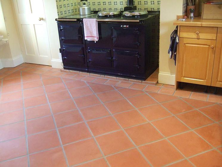 Pavimento in cotto in cucina