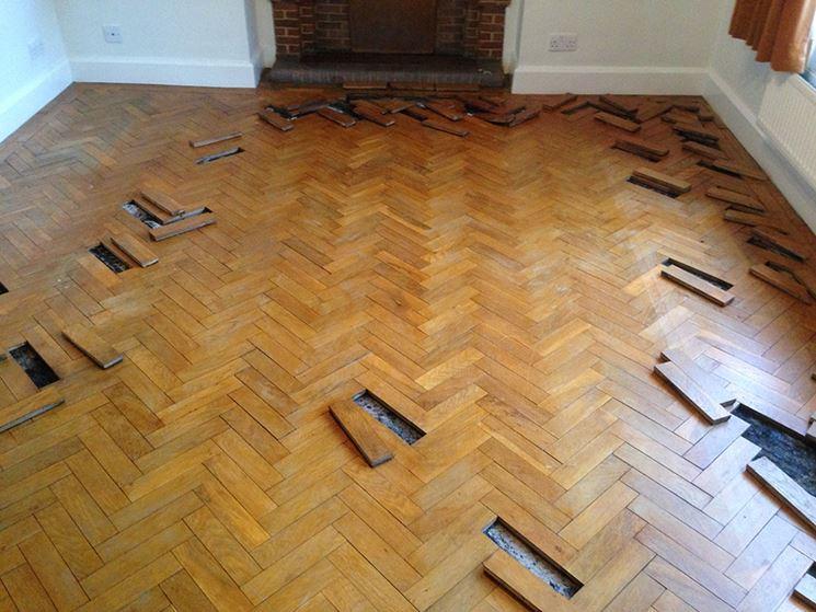 Posa dei pavimenti in legno