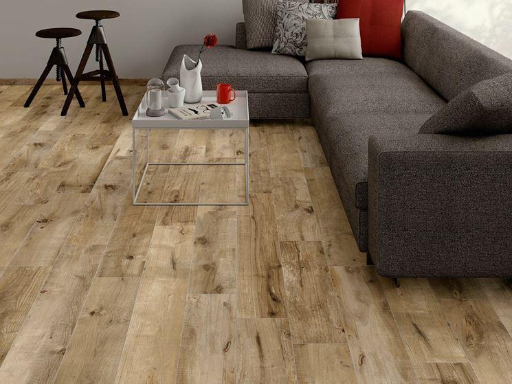 Mattonelle effetto legno