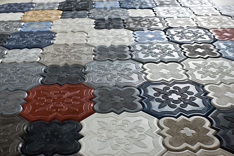 Colorare mattonelle finest decorativo colorato motivo patchwork