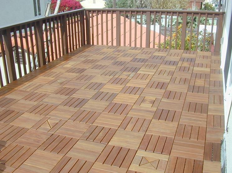 Balcone legno