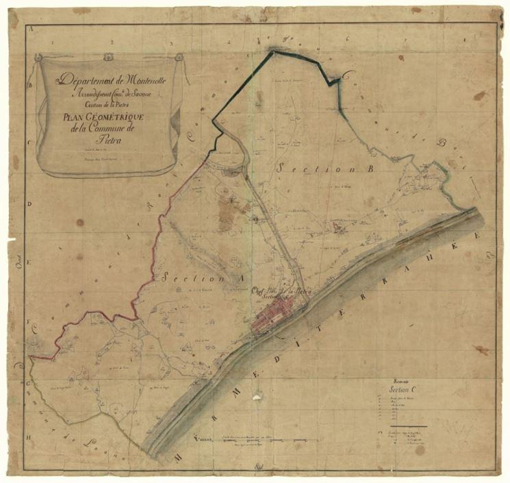 Un esempio di mappa catastale napoleonica