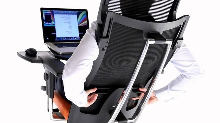 Seduta con sostegno lombare
