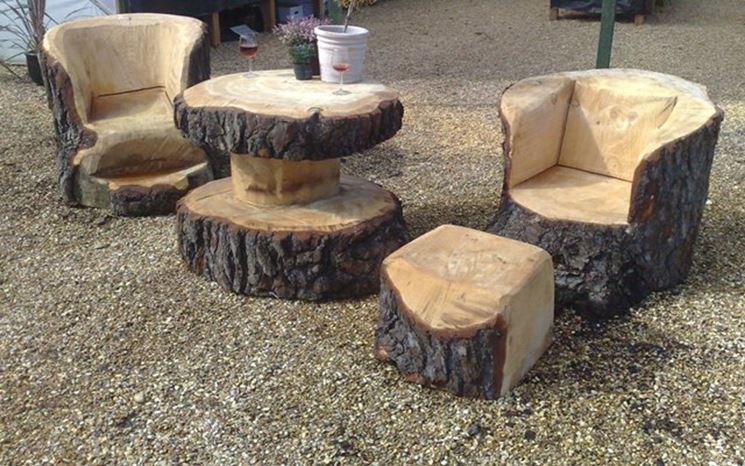 Mobili tronchi albero
