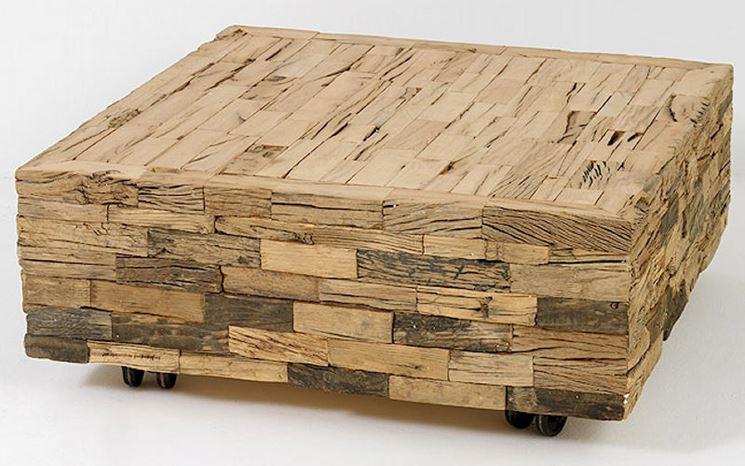 Seduta legno riciclato