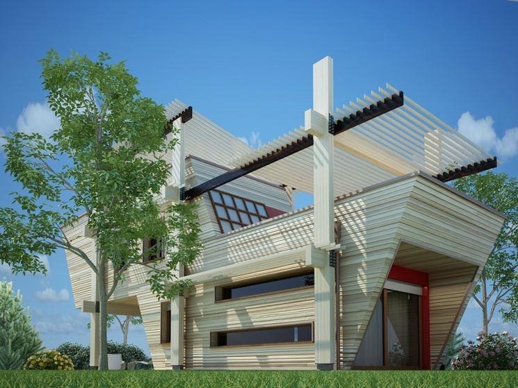 Casa di legno in bioarchitettura