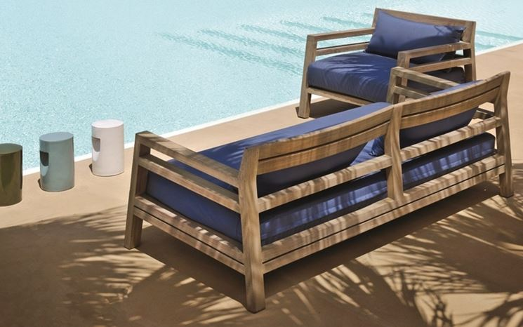 Divano da giardino divani tipologie di divani da giardino for Divano esterno legno