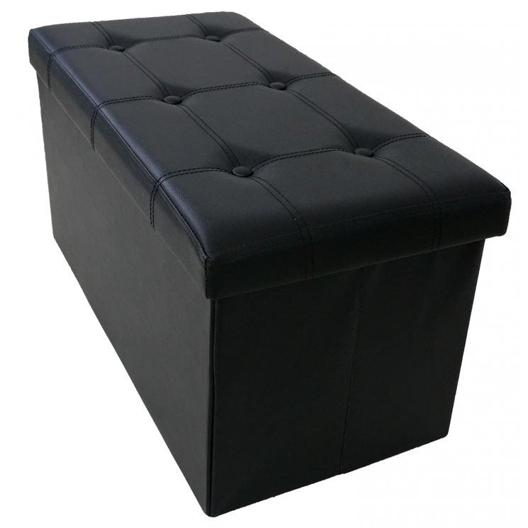 Divanetto contenitore nero