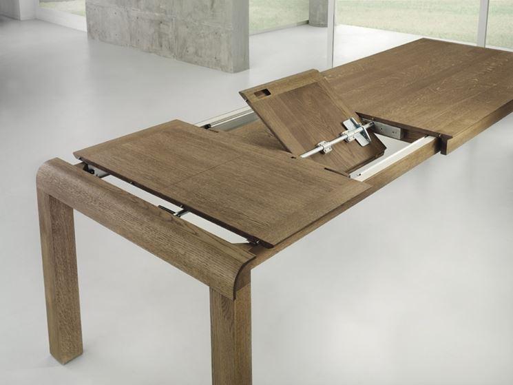Tavoli allungabili in legno tavoli tavoli in legno - Meccanismo per tavolo allungabile ...