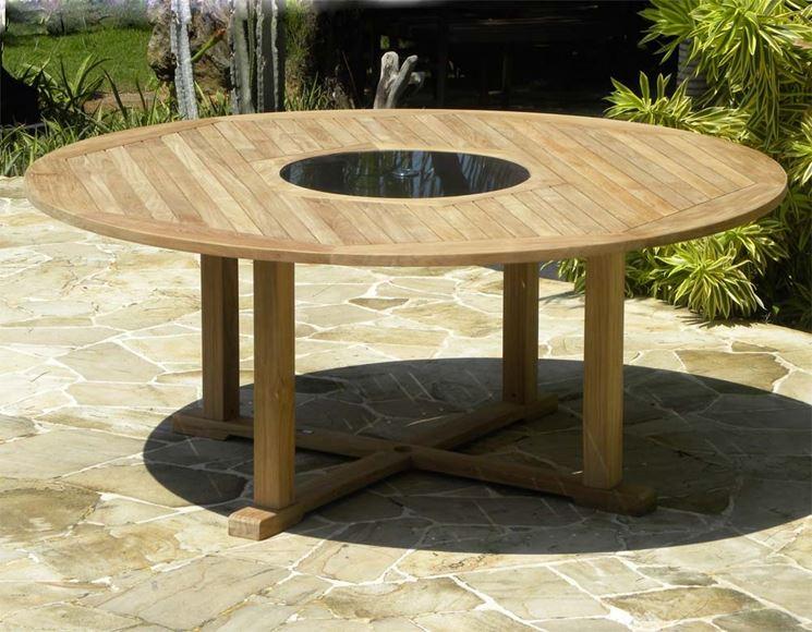 Esempio di tavoli da giardino