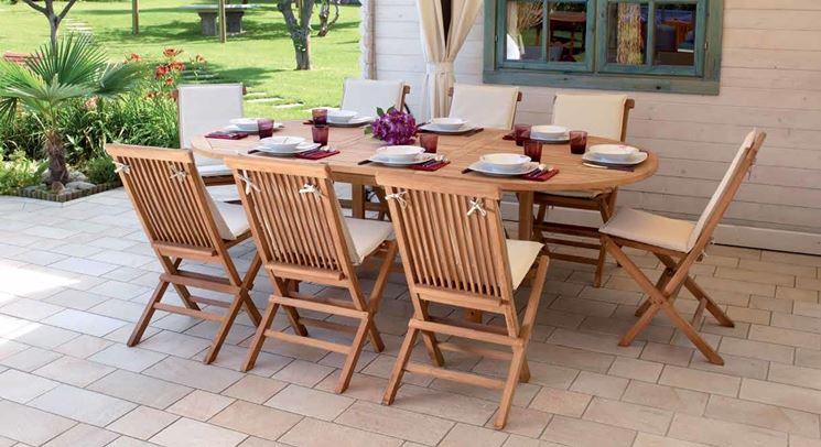 Tavoli giardino teak tavoli modelli di tavoli da for Tavolo da terrazzo allungabile