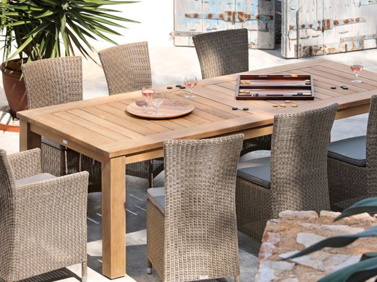 Tavoli giardino teak - Tavoli - Modelli di tavoli da giardino in teak